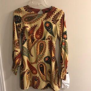 ZARA Paisley Mini Dress NWT